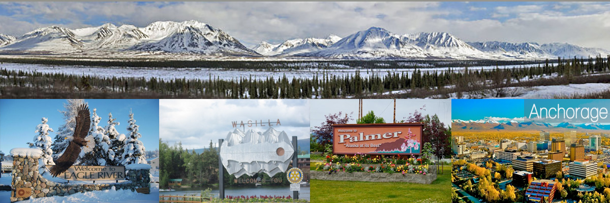 Alaska Homes for Sale by Brooke banner, views of Alaska